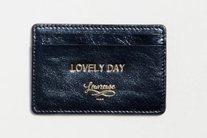 Lovely Day card holder in metallic blue