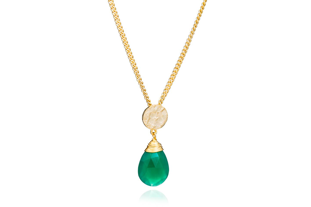 Kate Green Onyx Necklace