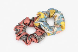 Hair Scrunchie Pink Zebra & Multi