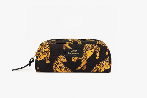Cheetah Small Make up Bag