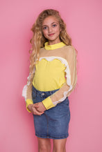 Frill Mesh Shirt - Yellow