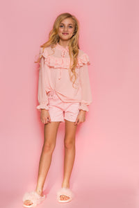 Frill Blouse - Pink