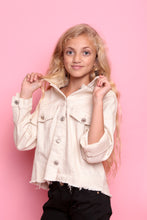 Frayed Denim Jacket - Cream