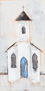 Church: Bell Tower - Blue