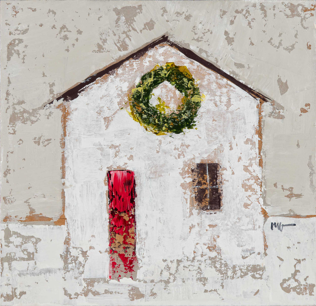 Cottage with Wreath
