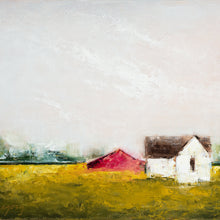 Farmhouse with Red Barn