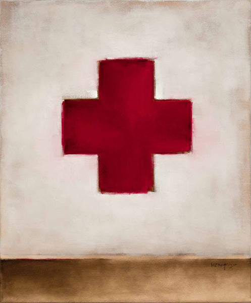 RED CROSS WITH BROWN