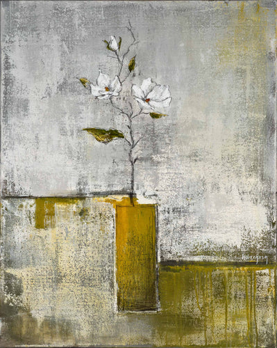 Magnolia in Green Vase