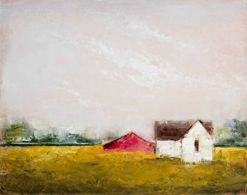 Farmhouse with Red Barn 2
