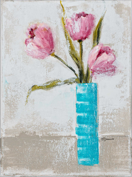 Pink and Turquoise Tulips