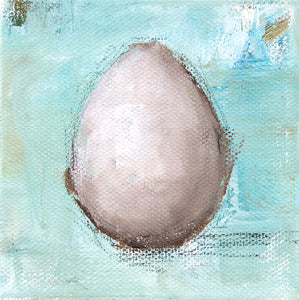 Egg on Turquoise 1