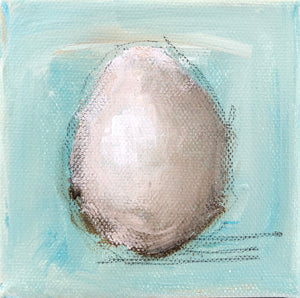 Egg on Turquoise 2