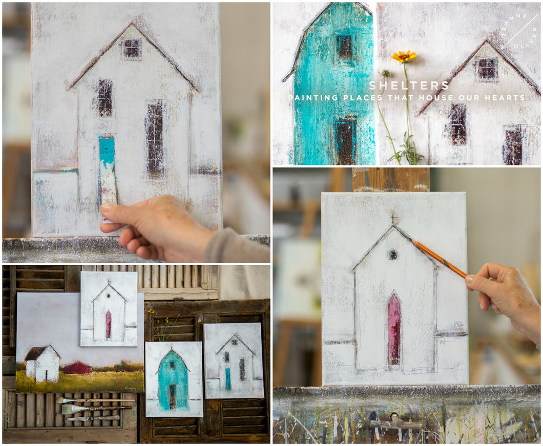 - ONLINE COURSE - Shelters: Painting the Places that House our Hearts<br><h2>August 9th, 2019</h2>