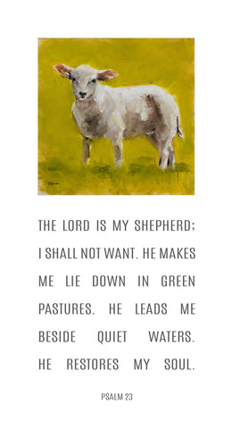 Shepherd Lamb - Psalm 23