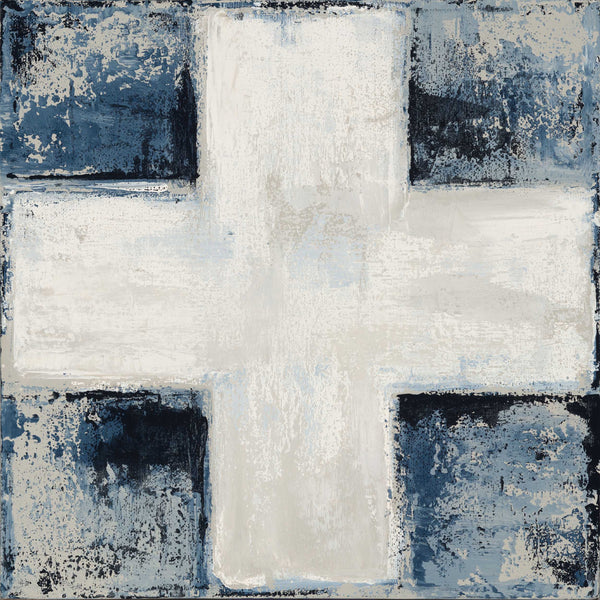White Cross on Navy