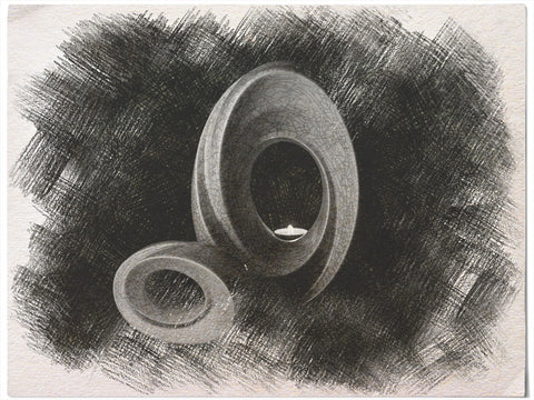 """Sketch of """"The Passage"""" urn for ashes. By Pulvis Art Urns"""