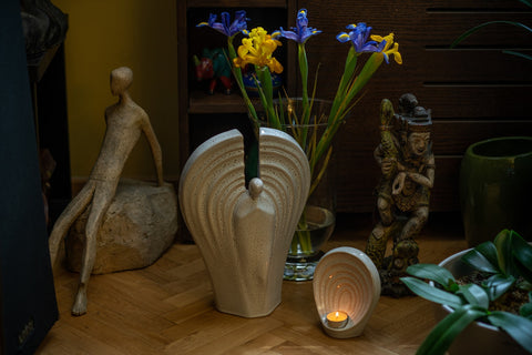 """Set of Ceramic Art Urns for Ashes """"Guardian"""" - By Pulvis Art Urns"""
