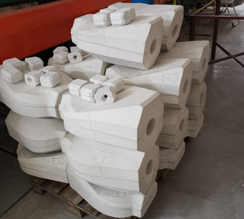 Gypsum molds for ceramic urns by Pulvis Art Urns.