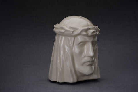 "Cremation art urn for ashes by Pulvis (Model ""The Christ"" )"