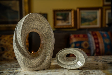 """Set of Ceramic Art Urns for Ashes - """"The Passage"""" By Pulvis Art Urns"""