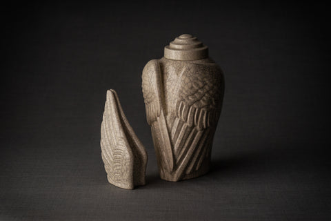 Ceramic urns for ashes (set) by Pulvis Art Urns