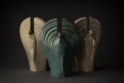 "Ceramic urns for ashes model ""Guardian"" by Pulvis Art Urns"
