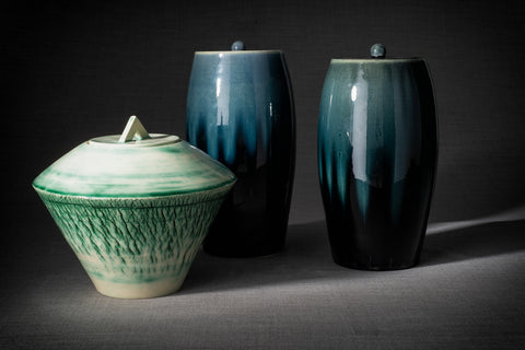 Cremation urns for ashes by Pulvis Art Urns