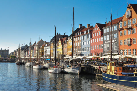 City in Denmark, near the sea. The Image is part of a blog article for scattering ashes by Pulvis Art urns.