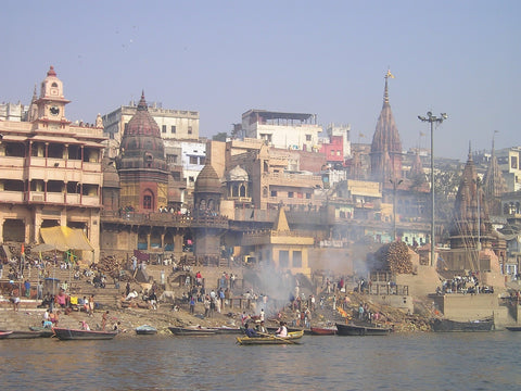 River in India. Photo from the blog by Pulvis Art Urns
