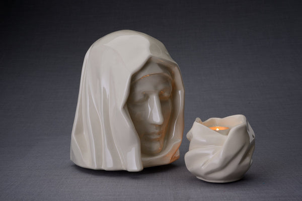 Set of Cremation Urns for Ashes - The Holy Mother ( Large urn + Keepsake)