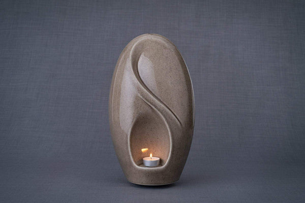 Eternity Cremation Urn for Ashes – Beige Grey | Large | Ceramic