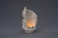Light Handmade Keepsake Cremation Urn for Ashes, color Transparent, Candle-holder-Pulvis Art Urns