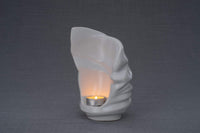 Light Handmade Keepsake Cremation Urn for Ashes, color White, Candle-holder-Pulvis Art Urns