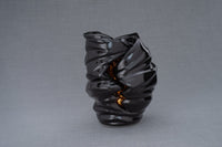Light Handmade Cremation Urn for Ashes, size Large/Adult, color Lamp Black-Pulvis Art Urns