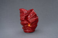 Light Handmade Cremation Urn for Ashes, size Large/Adult, color Red-Pulvis Art Urns