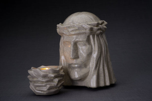 Set of Cremation Urns for Ashes - The Christ ( Large urn + Keepsake)