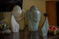 Ceramic Art Urn for Ashes - Wings - sets by Pulvis Art Urns