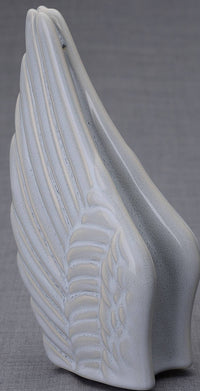 Wings Handmade Cremation Keepsake Urn for Ashes, color Grey Melange-PulvisArtUrns-Pulvis Art Urns