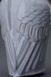 "Ceramic Art Urn for Ashes - ""Wings"" - Large - Grey Melange"