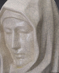 "Ceramic Art Urn for Ashes - ""The Holy Mother"" - Large - Craquelure"