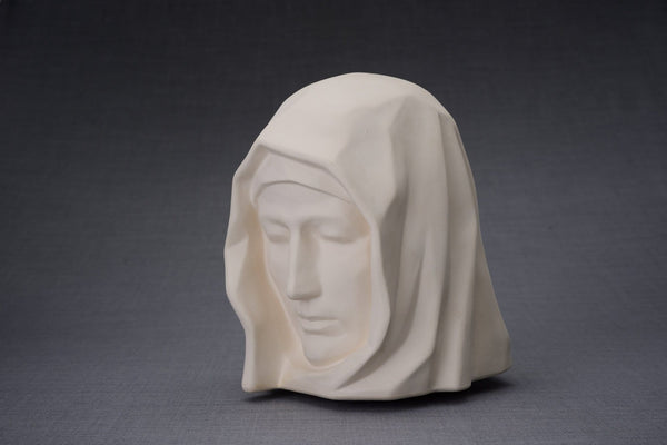 The Holy Mother Handmade Cremation Urn for Ashes, size Large/Adult, color Unglazed-Pulvis Art Urns