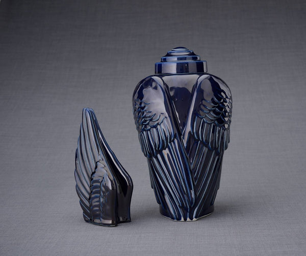 Set of Cremation Urns for Ashes - Wings ( Large urn + Keepsake)