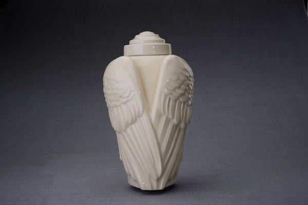 Wings Handmade Cremation Urn for Ashes, size Large/Adult, color Transparent-Pulvis Art Urns