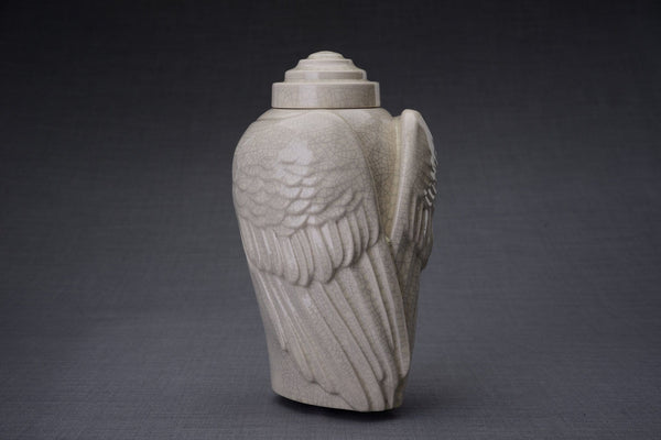 Wings Handmade Cremation Urn for Ashes, size Large/Adult, color Craquelure