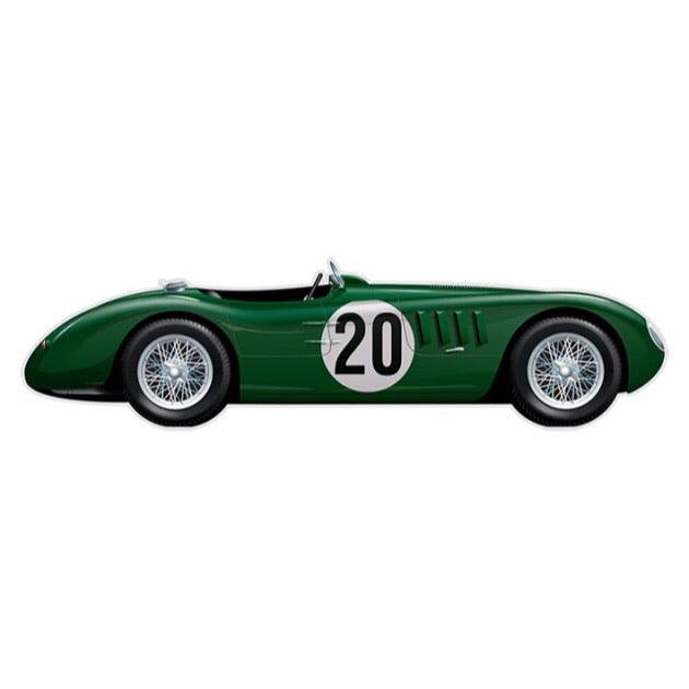 PLAQUE ALU JAGUAR TYPE C LM 1951