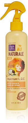 SoftSheen-Carson Dark and Lovely Au Naturale Moisture L.O.C. Super Quench Leave-In Spray, 8.5 fl oz