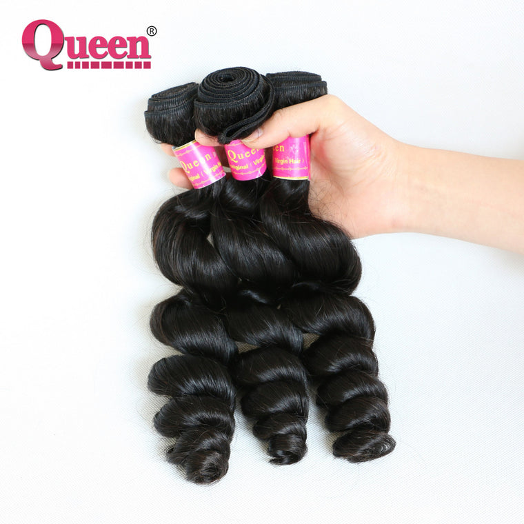 Queen Hair Products Unprocessed Brazilian Virgin Hair Loose Wave 26""