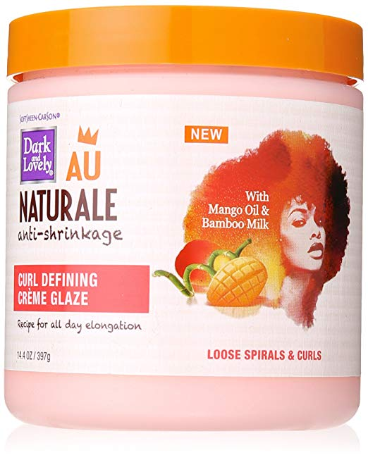 SoftSheen-Carson Dark and Lovely Au Naturale Anti-Shrinkage Curl Defining Crème Glaze, 14.4 oz