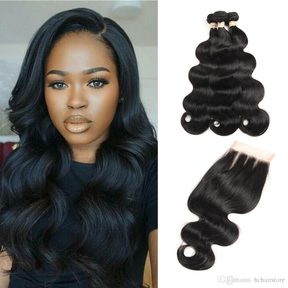 Human Hair Weaves 3 Bundles Brazilian Body Wave