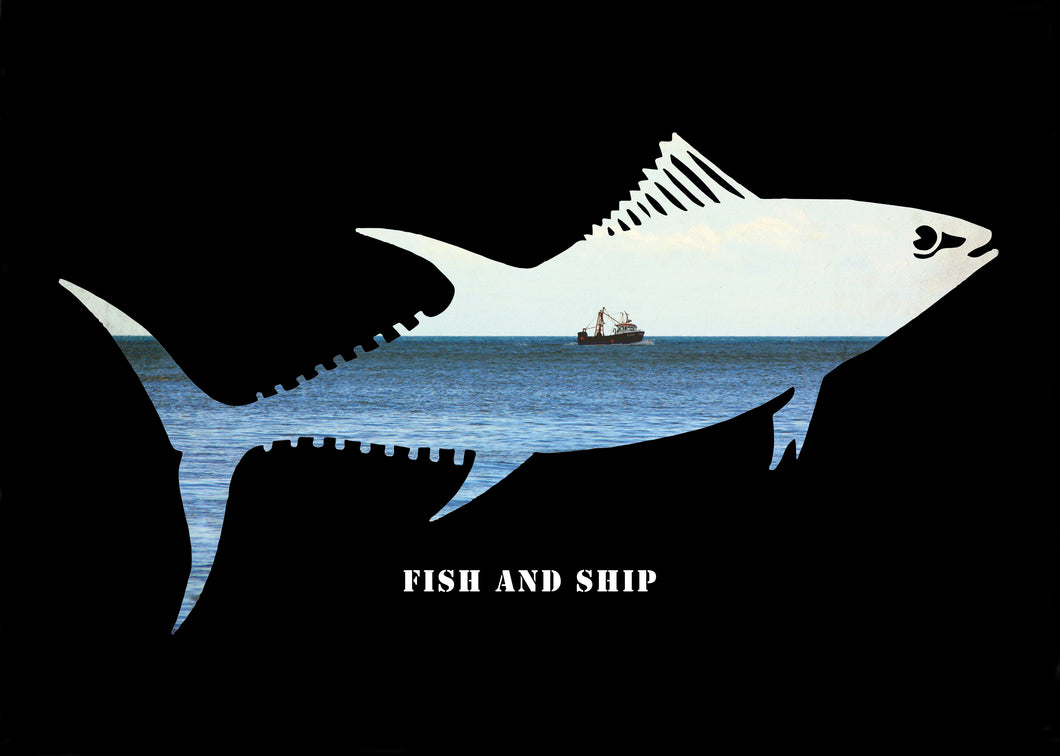 Print - Fish and Ship